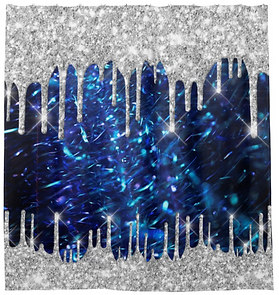 Spark Drips Glitter Blue Navy. Silver Gray Shower Curtain. Rub-a-dub-dub, it's time to upgrade the tub! A custom shower curtain is a simple and elegant way to upgrade your powder room.
