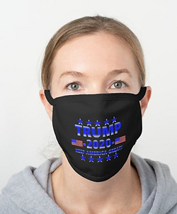 2020 Trump Black Cotton Face Mask