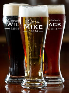 Personalized Engraved Pilsner Glass