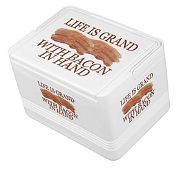Funny Food Life Is Grand With Bacon In Hand Drink Cooler