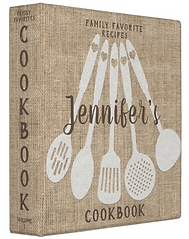 Rustic Vintage Country Personalized Cookbook 3 Ring Binder