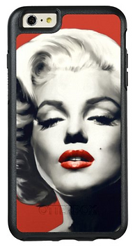 Red on Red Lips Marilyn OtterBox iPhone Case