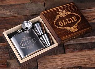 Personalizable Shot Glasses & 5 oz. Flask