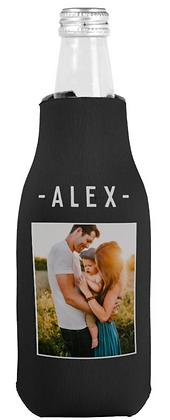 Single Photo Template Black Beer Bottle Cooler