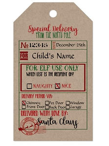 Special Delivery - Gift Tags from Santa