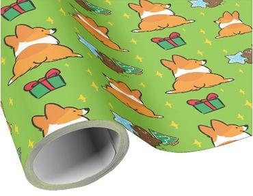 Christmas corgi dog Wrapping Paper