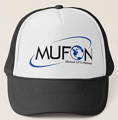 mufon logo spot color trucker hat