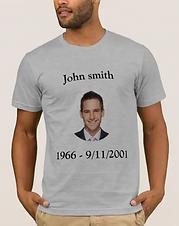 Personalizable Memorial 9/11 T-Shirt