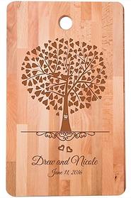 Birds In Family Tree Bamboo Cutting Board