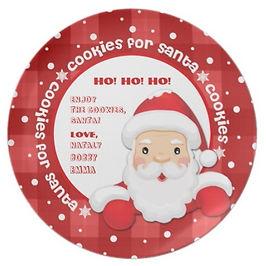 Custom Cookies for Santa Plate