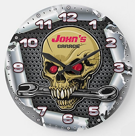 Man Cave Personalizable Retro-Style Large Clock