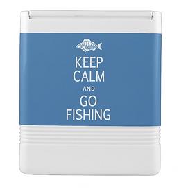 Keep Calm & Go Fishing custom cooler