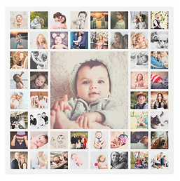 Custom Family Memories Photo Collage Personalized Metal Print
