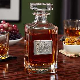 Monogrammed Royal Crest Carson Whiskey Decanter