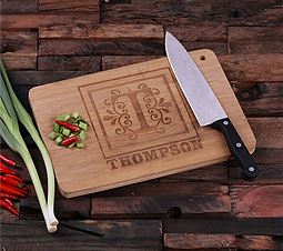 Personalizable Monogram Bamboo Cutting Board