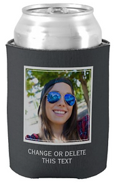 YOUR photo & text custom can cooler