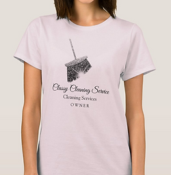Pink Gray Cleaning Services Maid House Keeping T-Shirt