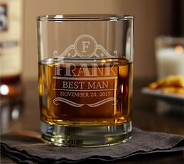 Engraved Rockefeller Eastham Whiskey Glass
