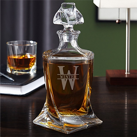 Sophisticated Engraved Whiskey Decanter