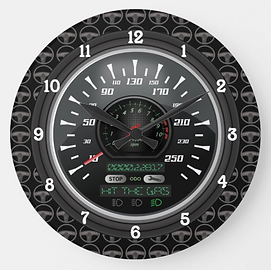 Personalized Speedometer V.2 Large Clock