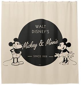 Vintage Mickey & Minnie Shower Curtain