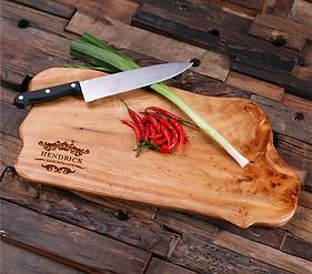 Unique Engraved Cedar Wood Cutting Board