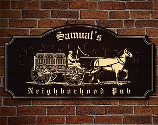 Neighborhood Pub Historic Beer Barrels Wall Sign