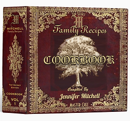 Personalized Vintage Family Recipe Cookbook 3 Ring Binder
