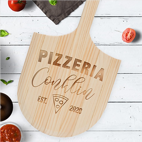 Classic Pizzeria Pizza Peel Serving Board