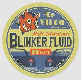 DeVilCo Blinker Fluid Classic Round Sticker