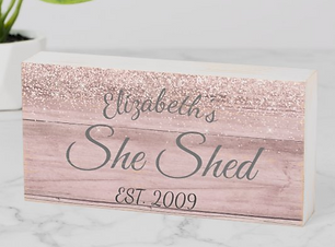 Custom She Shed Wooden Sign Customized gift,  Meaningful Personalized gifts, Personalised sentimental gifts, Unique personalized gifts,  Personalized Gifts,  personalized gifts for her,  personalized gifts for him, unique gift, Customize Products