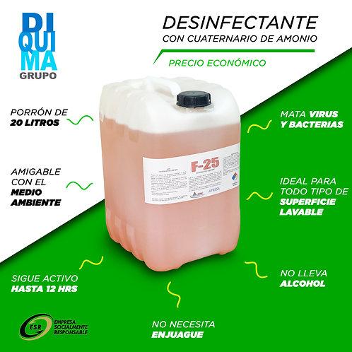 Desinfectante Uso Gral Cuaternarios de Amonio PO 20L