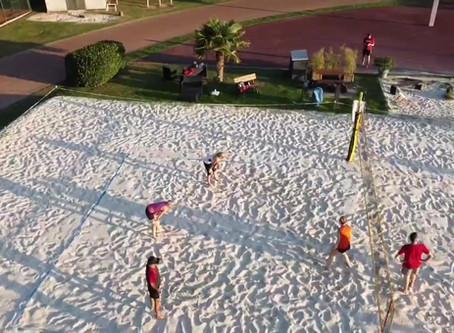 Bestes Beachvolleyball-Wetter, Mitte September