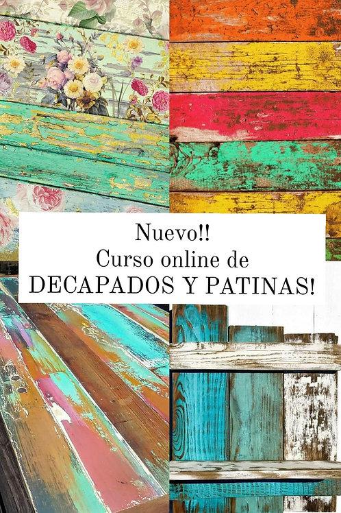 Curso Online de DECAPADO Y PATINAS