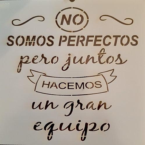 No somos perfectos...