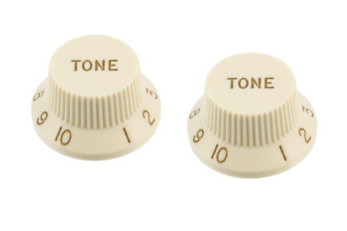 SET OF 2 PLASTIC TONE KNOBS FOR STRATOCASTER®