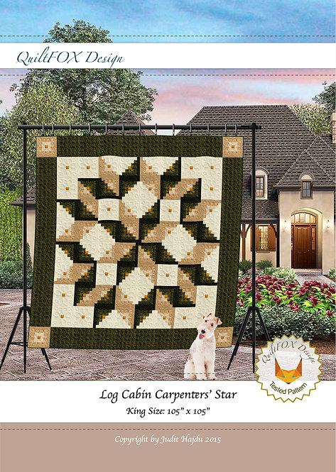"""Log Cabin Carpenter Star, king size: 105"""" x 105"""""""