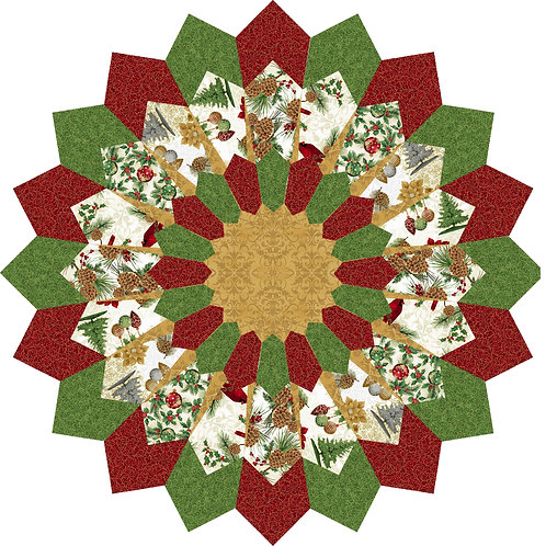 """Christmas Table Topper, diameter: 40"""" and 50"""" and Placemats"""