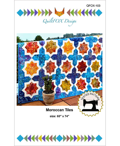 "Moroccan Tiles, size: 60"" x 74"""
