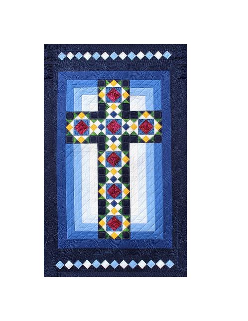 """Cross in Window, size: 30"""" x 50"""""""