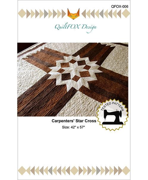 "Carpenters' Star Cross, size: 42"" x 57"""