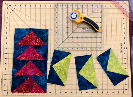 Making (nearly) perfect flying geese blocks