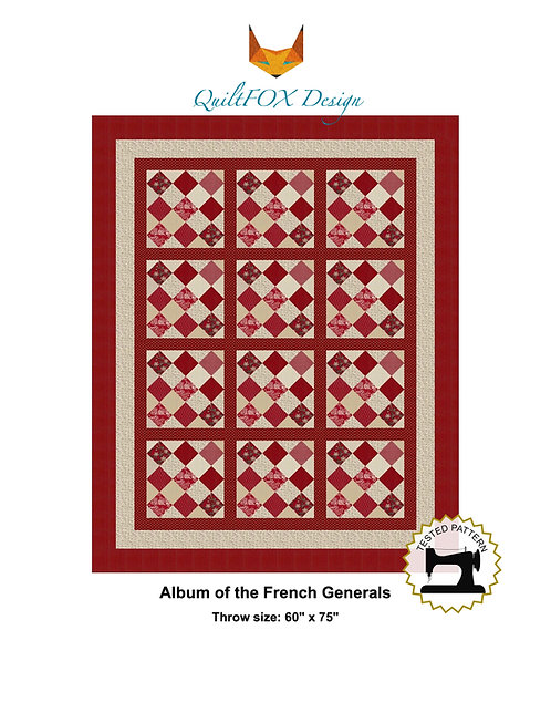 The Album of the French Generals, Throw, Twin/Full, Queen and King sizes