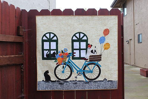"Come Ride With Me! - wall hanging: 42"" x 50"""