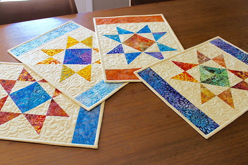 "Ohio Star Placemat, size: 13 1/2"" x 19"""