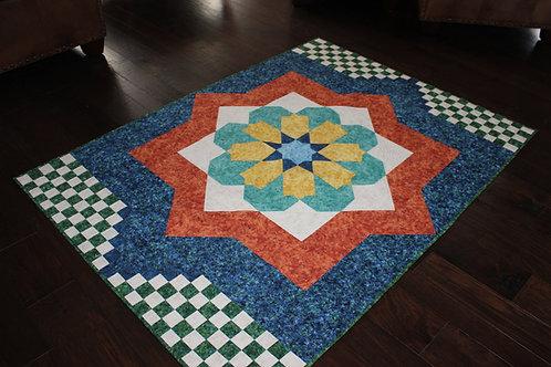 "Moroccan Mosaic, size: 56"" x 78"""