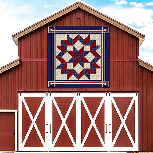 "Americana Carpenters' Star, king size: 108"" x 108"""