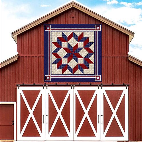 "Americana Carpenters' Star, king size: 108"" x 108"""