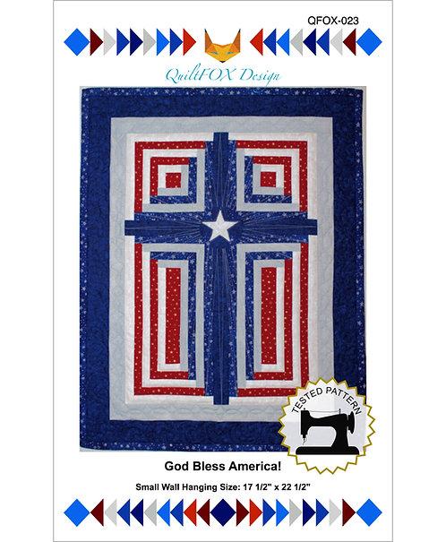 "God Bless America! Size: 17 1/2"" x 22 1/2"""