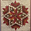 Thumbnail: Snowflake, baby quilt in two sizes